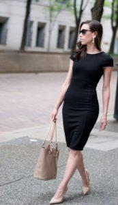 Look con vestido negro
