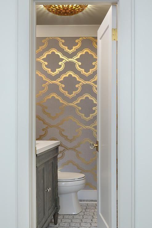 Papel moderno sencillo para baños Home depot