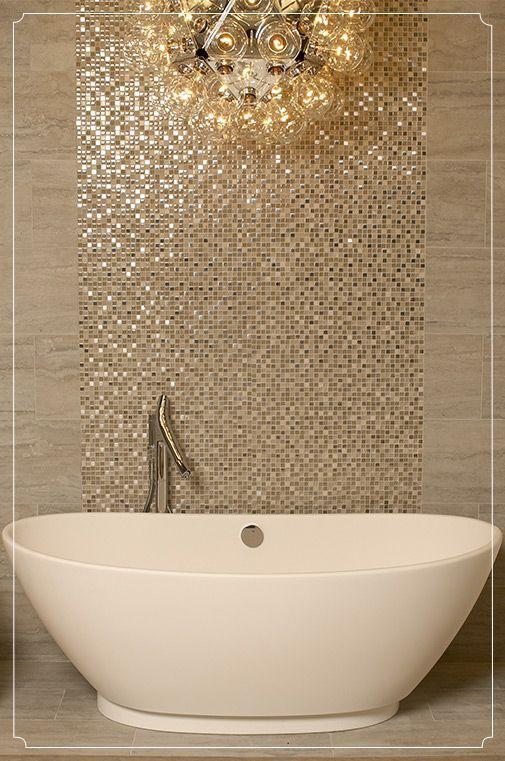 Papel pintado oro para baños minimalistas Home depot