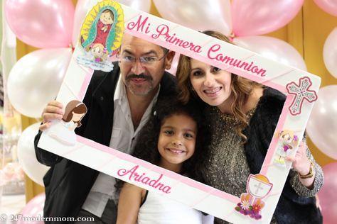 marco selfie primera comunion niña