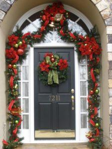 Adornos de navidad para puerta