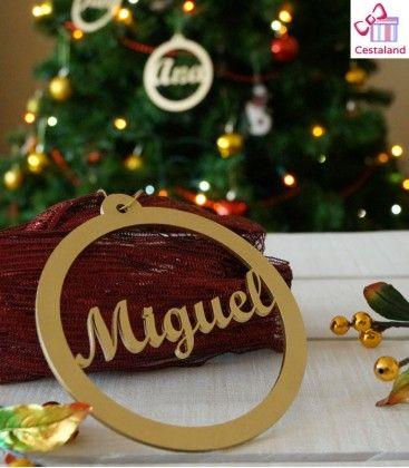 Adornos para el pino de navidad en madera