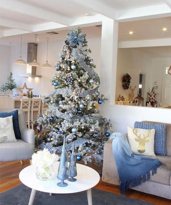 Arboles de navidad 2019 color azul