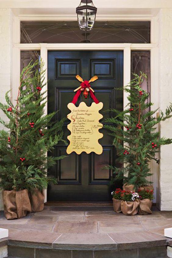 Arreglos para la entrada de la casa en navidad 2019