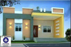 Casas en color amarillo