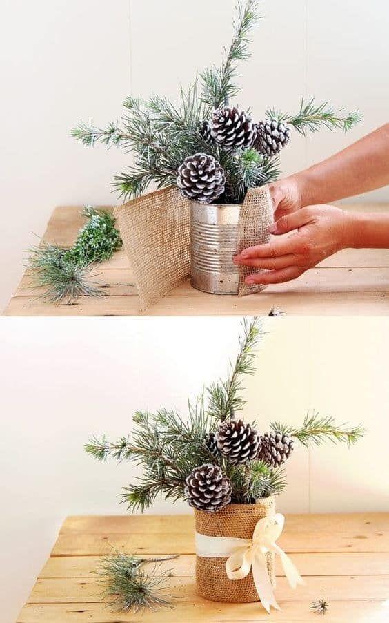 Centros de mesa de navidad hechos a mano paso a paso