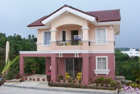 Color rosa para pintar fachadas modernas