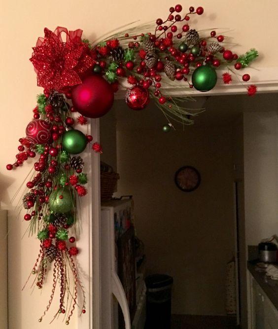 Como Decorar Mi Casa En Esta Navidad 2019.Adornos De Navidad Para Puerta Tendencias 2019
