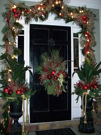 Como decorar mi puerta en navidad