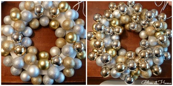 Como hacer Arreglos para la entrada de la casa en navidad con esferas