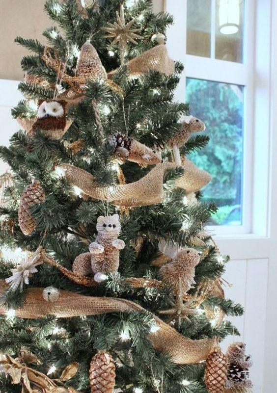 Esferas navideñas de buhos y animalitos del bosque