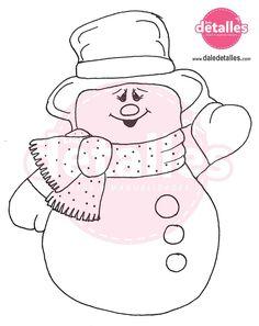 Moldes de muñecos de nieve en fieltro para imprimir para navidad