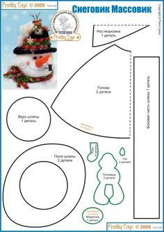 Moldes y patrones de navidad para hacer monos de nieve