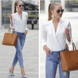 Outfit jeans oficina mujer y blusas de Vestir
