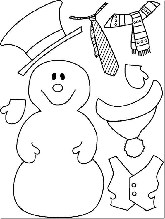 Patrones para hacer Muñecos de nieve en fieltro elegantes para navidad