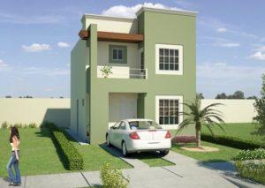 Verde olivo para fachadas modernas
