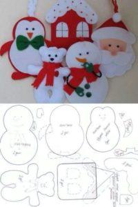 moldes para navidad en fieltro