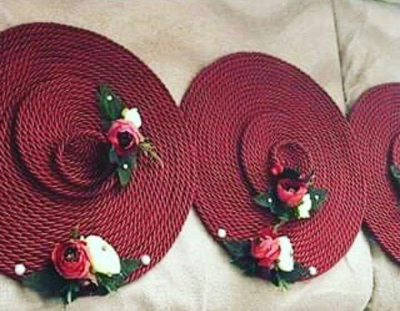 Como decorar Posavasos y servilleteros con cuerda y flores