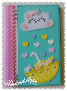 Como decorar un cuaderno con foami para niña