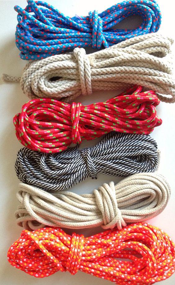 Como hacer individuales posavasos y servilleteros con cuerda paso a paso