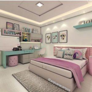 Diseño de cuartos juveniles para mujeres