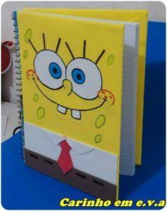Ideas para forrar cuadernos con foamy o goma eva