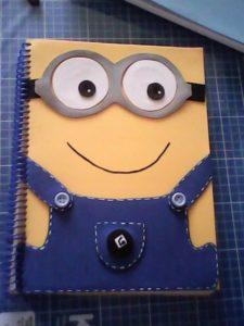 Ideas para forrar cuadernos con foamy o goma eva de niño