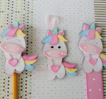 Moldes de unicornios de foamy goma eva o fieltro