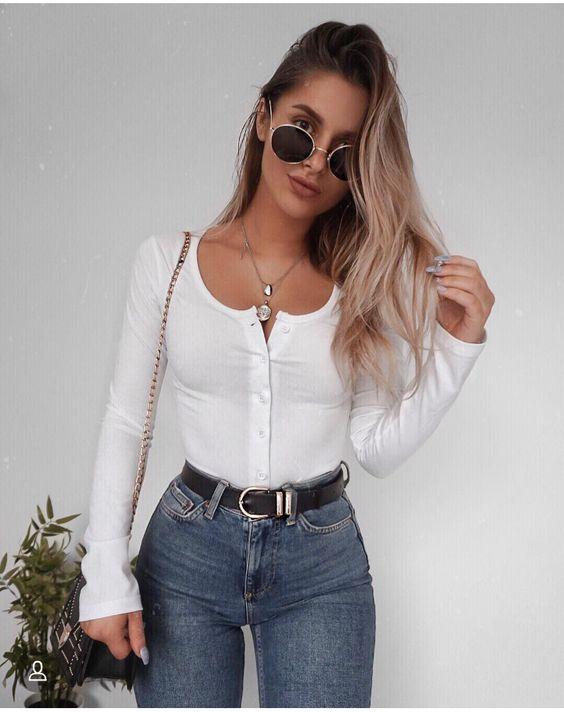 Ropa de moda 2019 con jeans