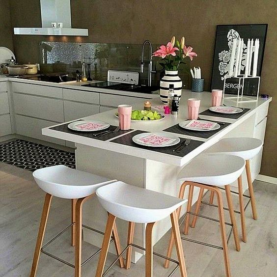porta platos modernos para decorar la barra de tu cocina