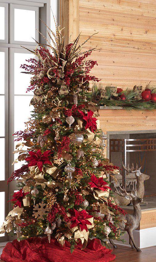 arboles de navidad para decorar casas de campo