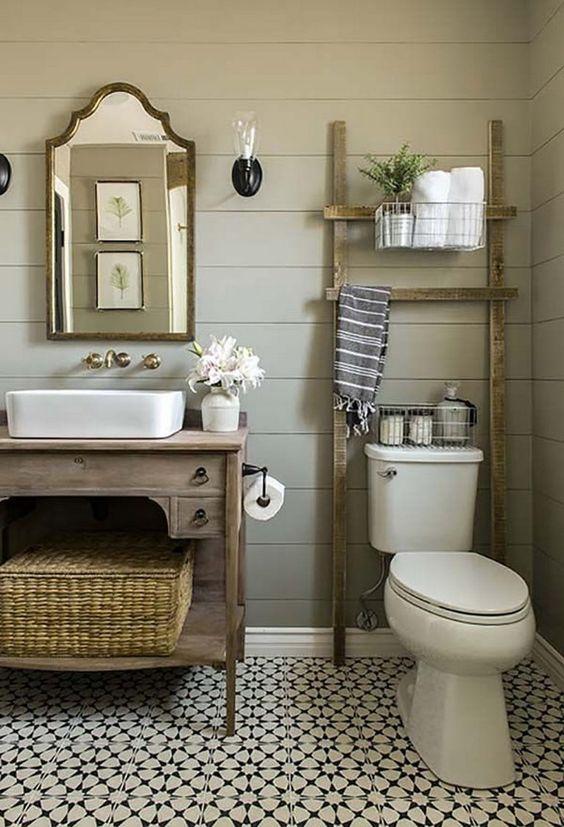 baños modernos pequeños y rusticos