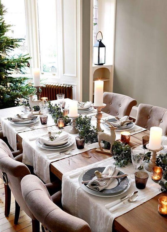 comedores navideños para casas de campo