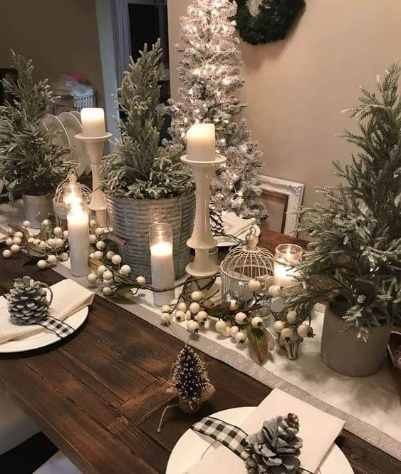 decoracion navideña para casas de campo