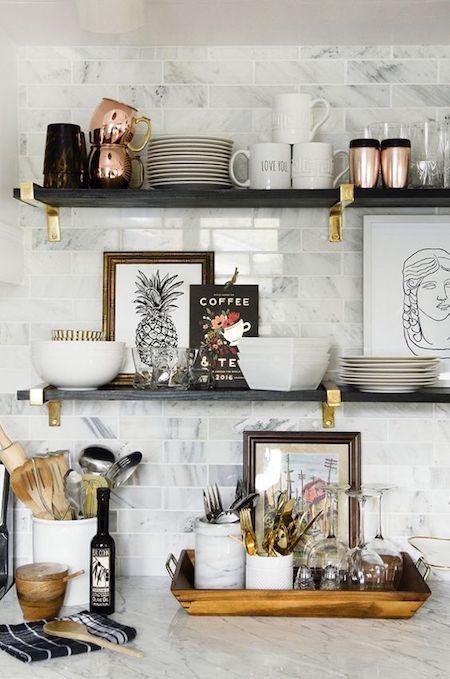 estantes de cocina abiertos modernos 2019 - 2020