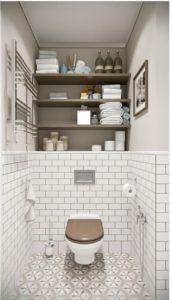 repisas para decorar baños pequeños y modernos