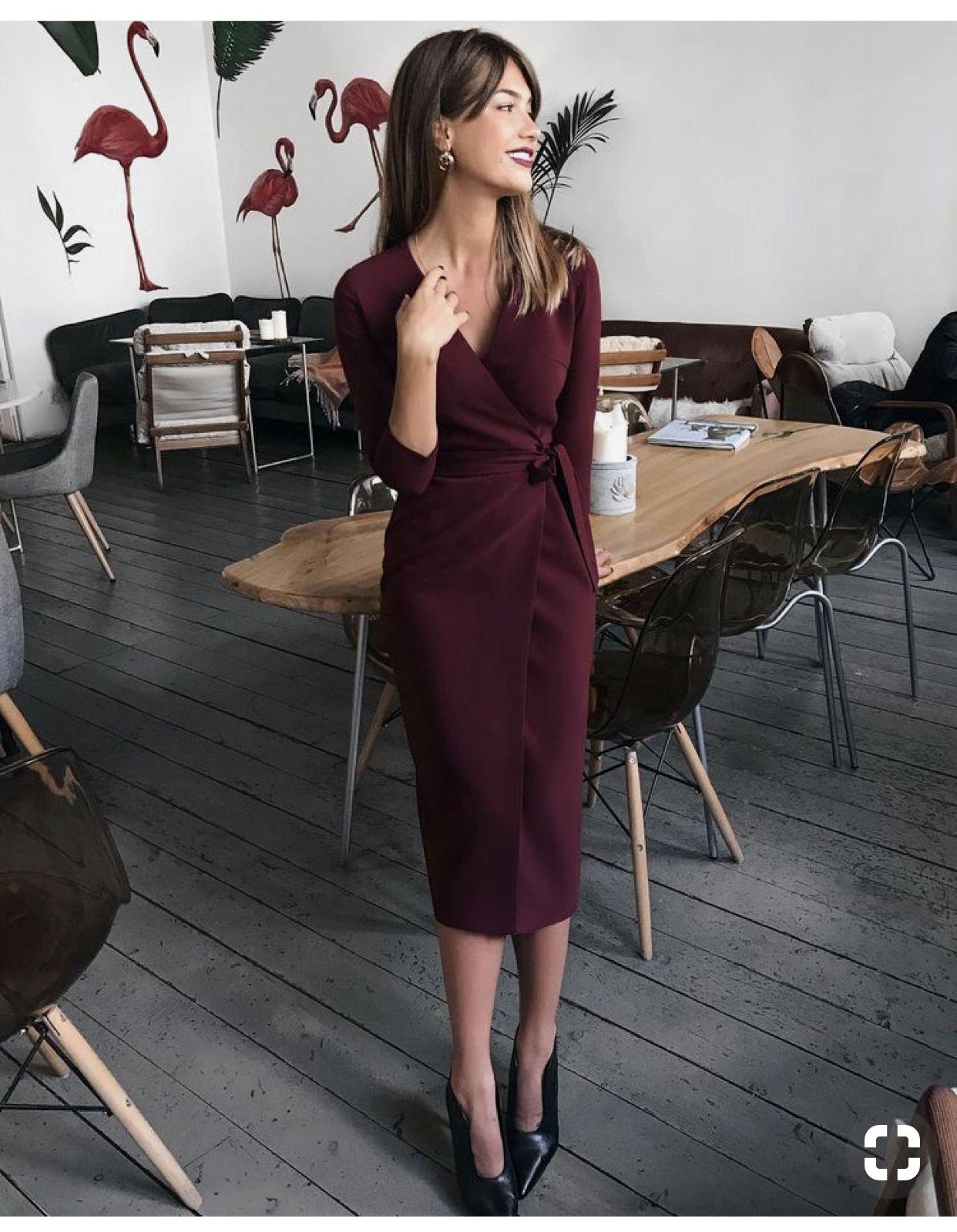 15 vestidos elegantes para la oficina que te van a encantar
