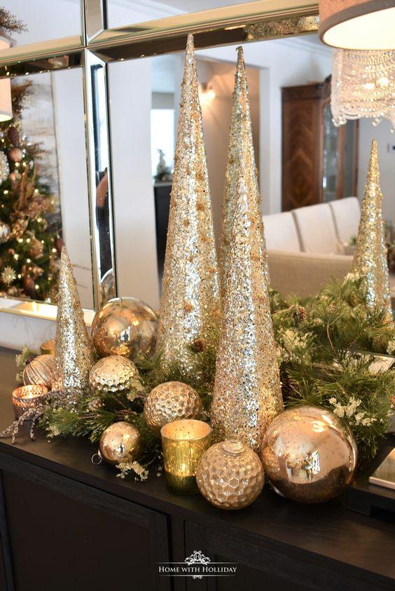 adornos navideños sencillos y economicos