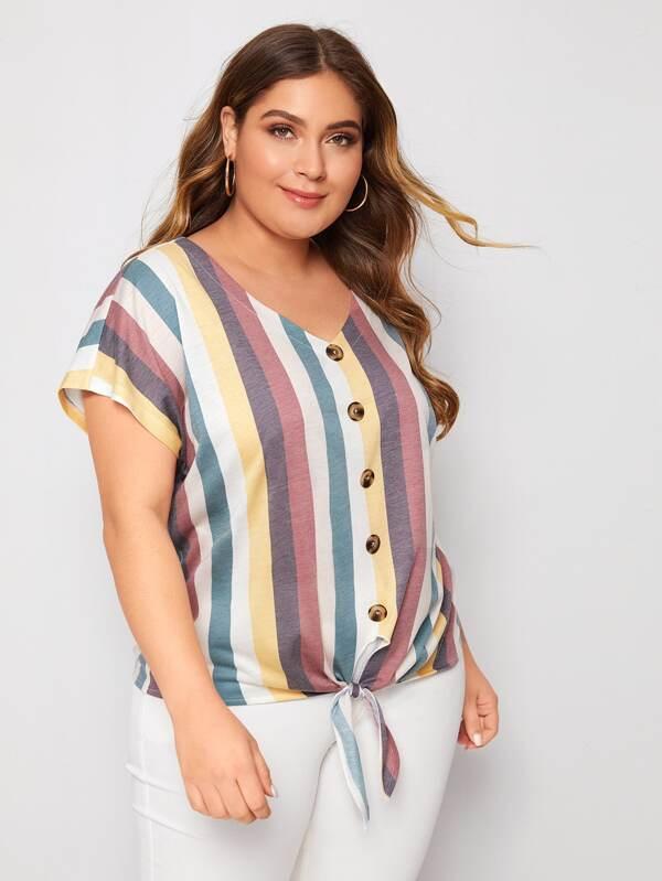 blusas para gorditas con rayas