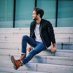 chaquetas de moda para hombres otoño - invierno