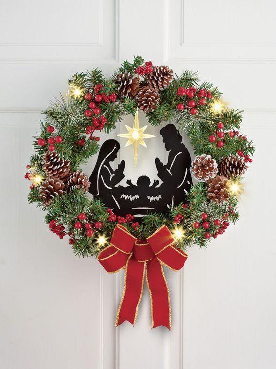 coronas navideñas con listones