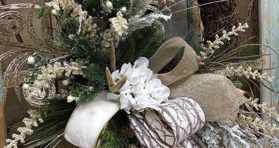 coronas navideñas modernas y elegantes