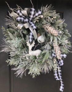 decoracion de coronas navideñas sencillas y elegantes
