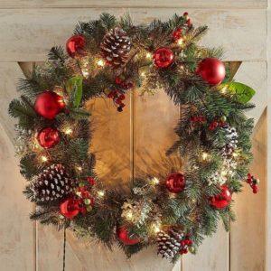 esferas para decorar coronas navideñas