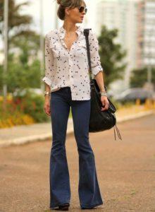 jeans oxford con blusas de vestir