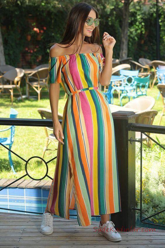 look con vestidos de rayas modernos