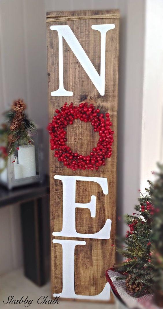 manualidades navideñas con tablas de madera