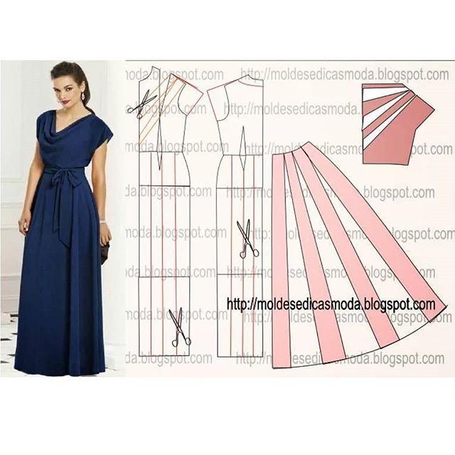 moldes de vestidos de fiesta para gorditas gratis