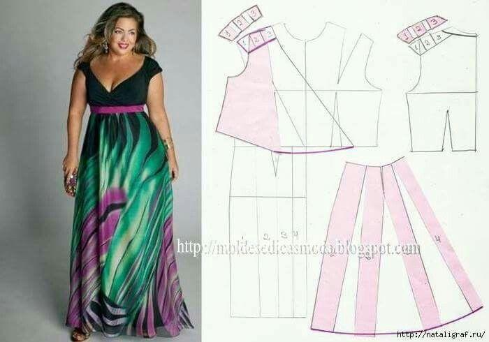 amplia selección de colores mayor selección diseño moderno Patrones de vestidos para gorditas 2019 - 2020 para descargar