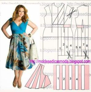 moldes de vestidos faciles de hacer para chicas plus size
